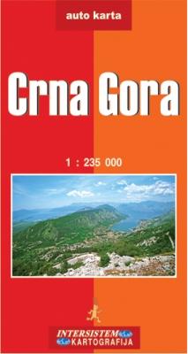 CRNA GORA - Auto karta