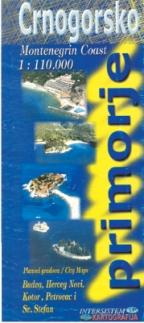 CRNOGORSKO PRIMORJE - Turistička karta